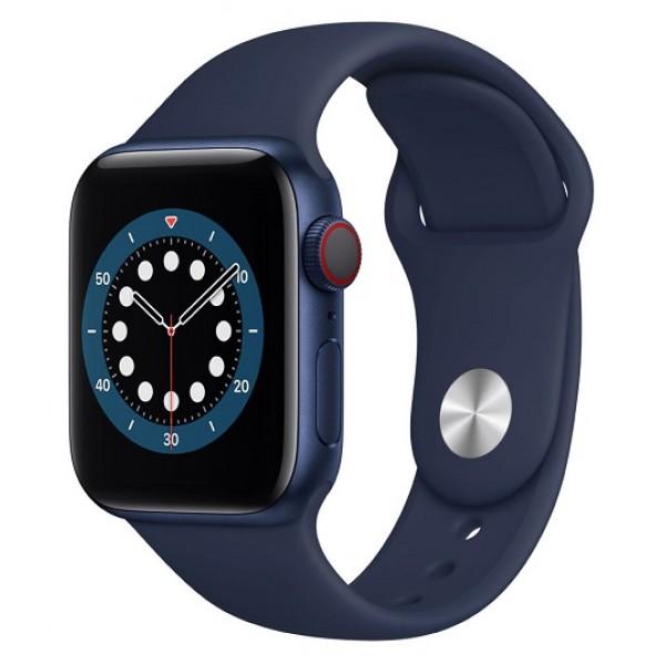 Reloj Apple Watch Serie 6 GPS + Cellular Caja 40mm Aluminio Azul y correa deportiva azul
