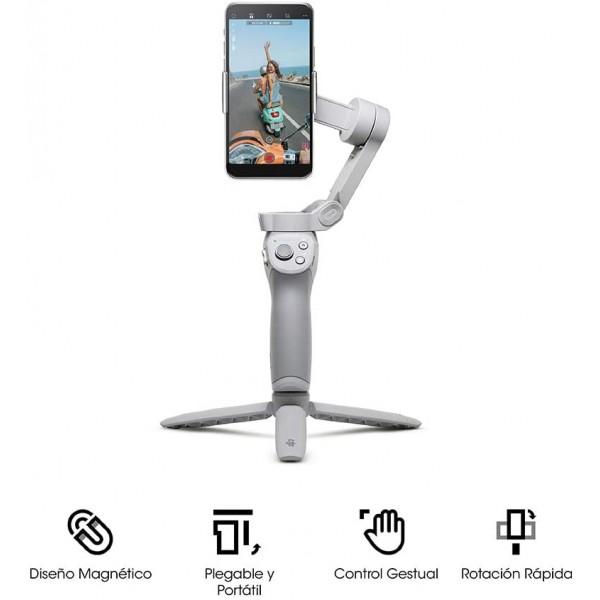 DJI OM 4 - Estabilizador de 3 Ejes para Smartphone (Garantía DJI España)