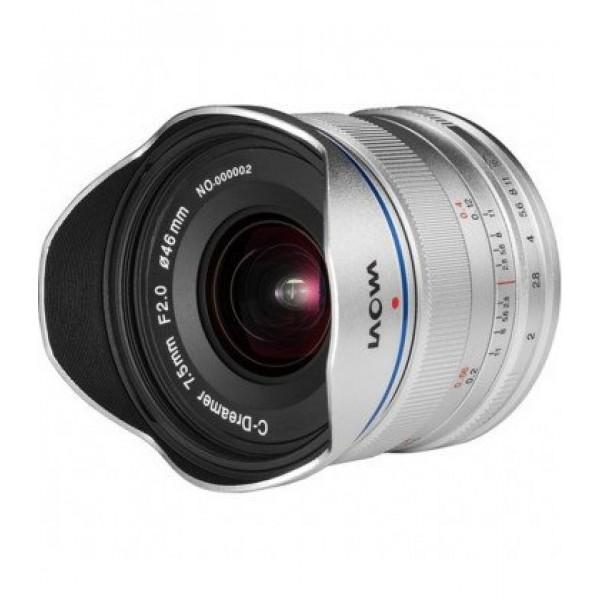Laowa 7.5mm F2 MFT plata - standard  Ref: VE7520MF...