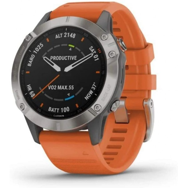 Reloj Garmin Fenix 6 Zafiro Orange Ref: 010-02158-...
