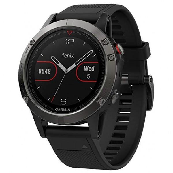 Reloj fénix 5 Gris con correa negra (Garantía Es...