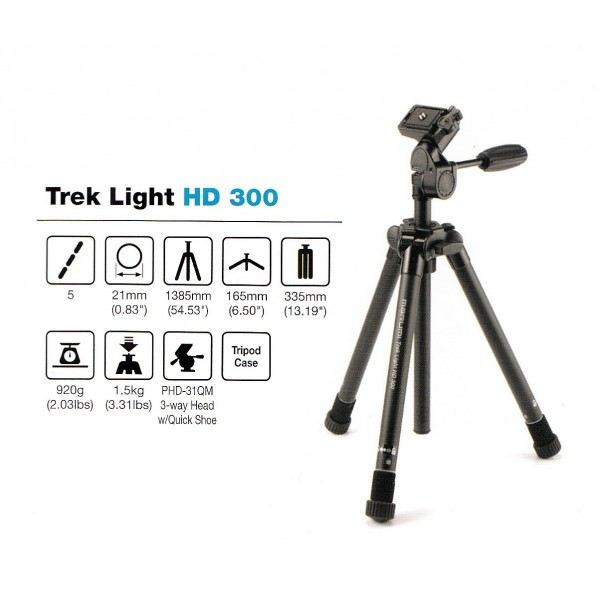 Tripode MARUMI TREK LIGHT HD-300