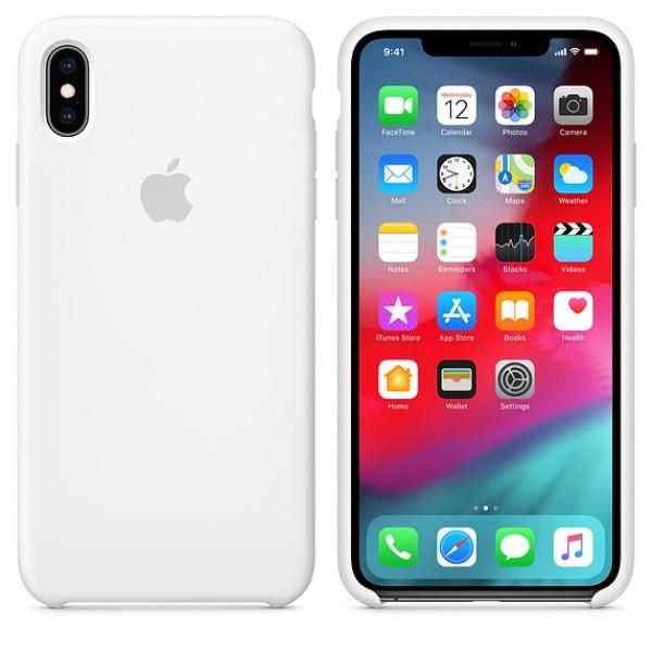 Apple Funda Iphone XS Max Silicone Case White