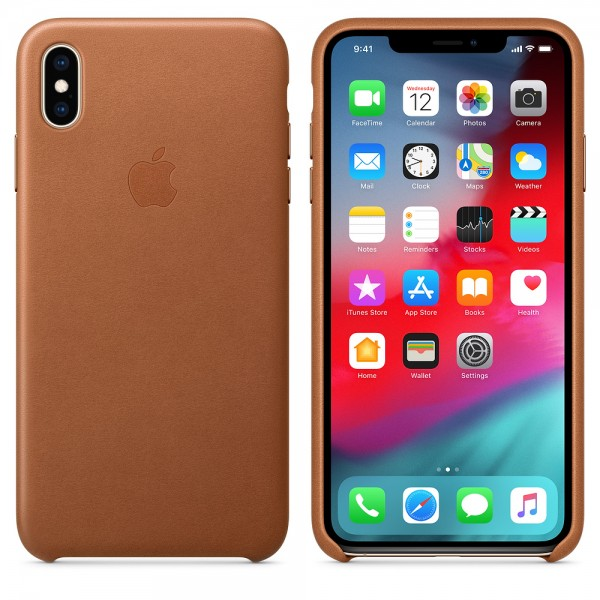 Apple Funda Iphone XS Max Leather Case Brown