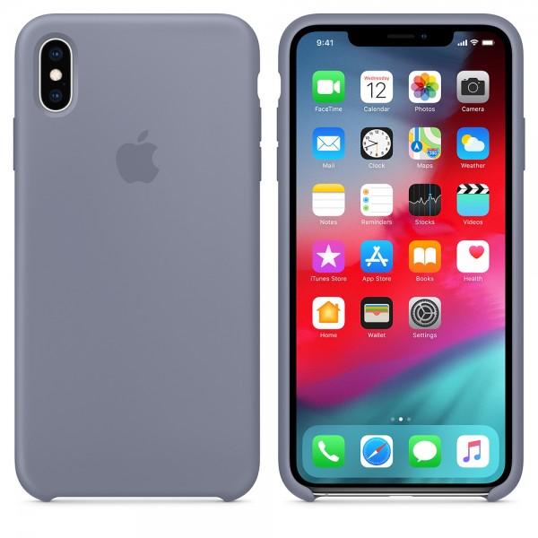 Apple Funda Iphone XS Max Silicone Case Gris Lavan...