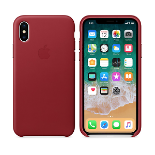 Apple Funda Iphone X Leather Case (PRODUCT) Red