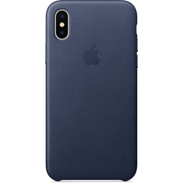 Apple Funda Iphone X Leather Case Azul Oscuro