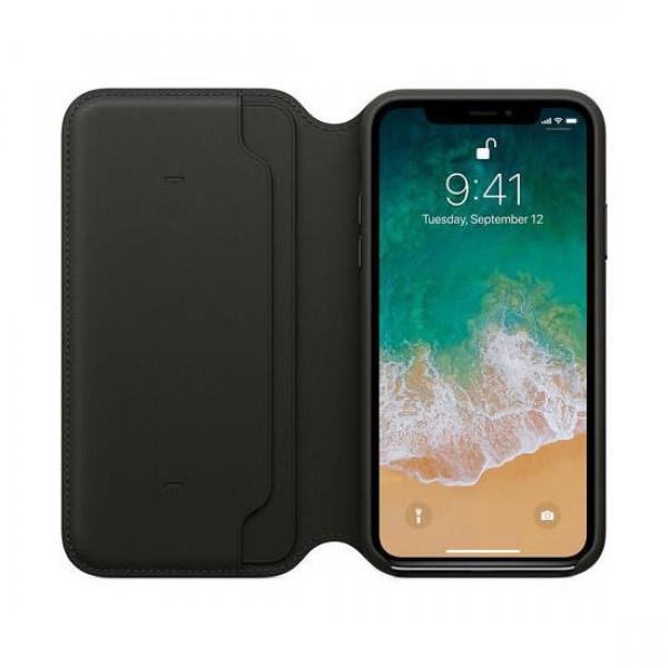 Apple Funda Iphone X Leather Folio Negro