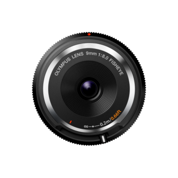 Objetivo Olympus BODY CAP LENS 9mm 1:8.0 Negro (Garantía Olympus España