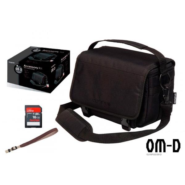Accesorio Olympus Funda OM-D L Bolsa de hombro + Accessory Kit Correa y SDHC 16GB (AGOTADO)
