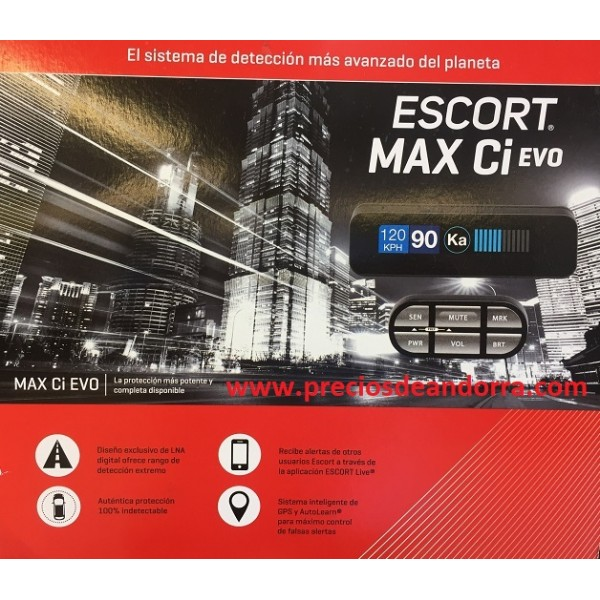 Anti-radar Detector de Radar Escort Max CI Int. Ev...