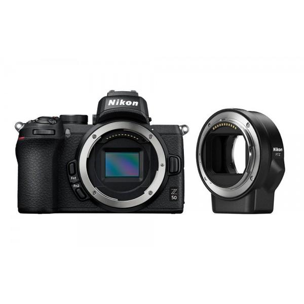 Nikon Z50 + Adaptador Nikon FTZ (Garantía Nikon E...