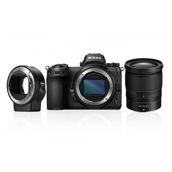 Nikon Z6 Cuerpo + Nikon FTZ + Nikkor Z 24-70mm f/4...