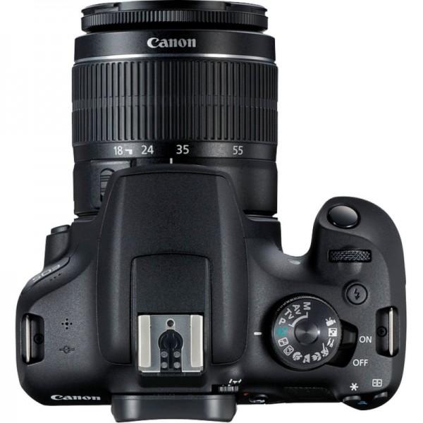 Cámara Canon EOS-2000D + Canon EF-S 18-55mm III Kit Funda.