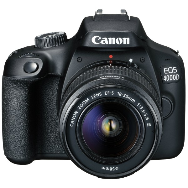 Cámara Canon EOS-4000D + Canon EF-S 18-55mm III