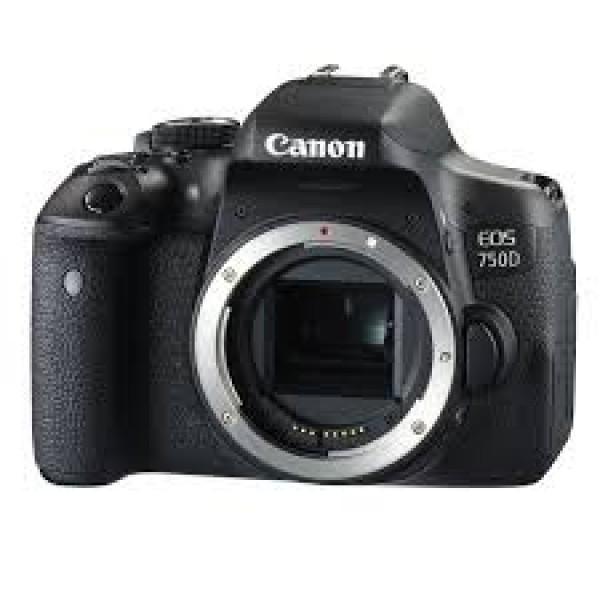 Cámara Canon EOS-750D Cuerpo (Garantía Canon Esp...
