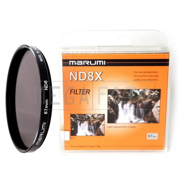 Marumi Filtro Densidad Neutra ND 8X de 77mm