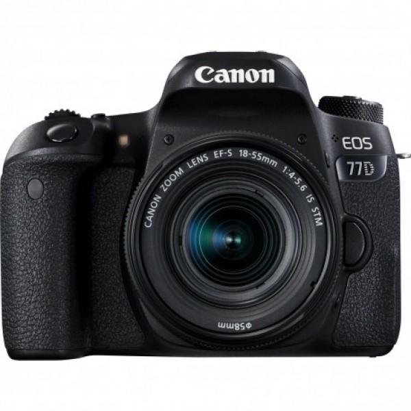 Cámara Canon EOS-77D + Canon EF-S 18-55 mm f/4-5,...
