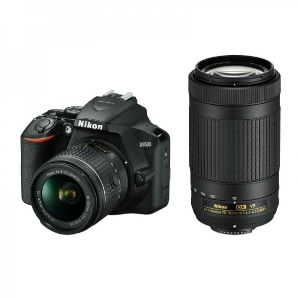 Cámara Nikon D3500 + 18-55mm VR + 70-300mm VR + F...