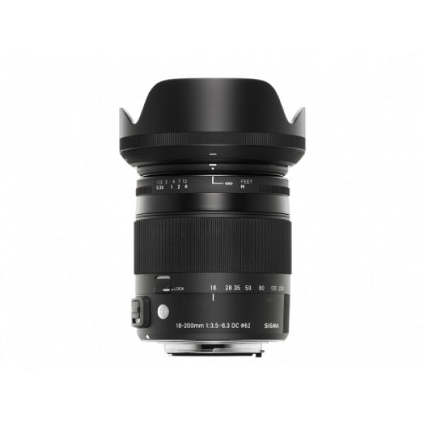 Objetivo Sigma 18-200mm F3.5-6.3 DC MACRO OS HSM Contemporary Montura Nikon