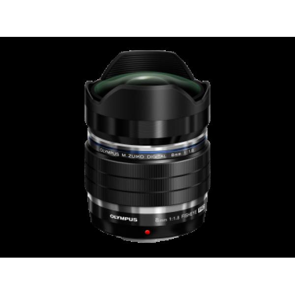 Objetivo Olympus M.zuiko Digital ED 8mm 1:1.8 Fisheye PRO Negro (Garantia Olympus España)
