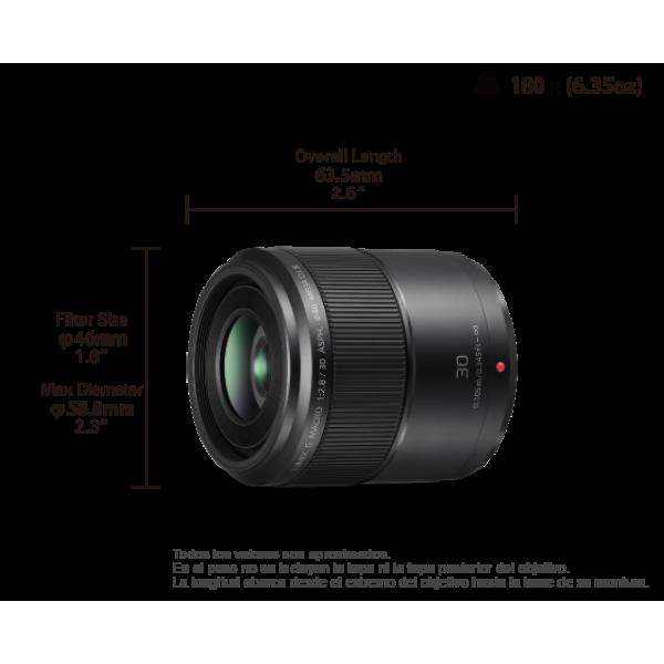 Objetivo Panasonic 30mm f/2.8 ASPH O.I.S. (H-HS030...