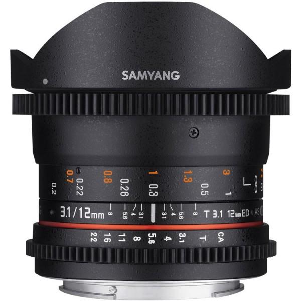 Samyang 12mm T3.1 Fisheye VDSLR II Canon (Garantí...