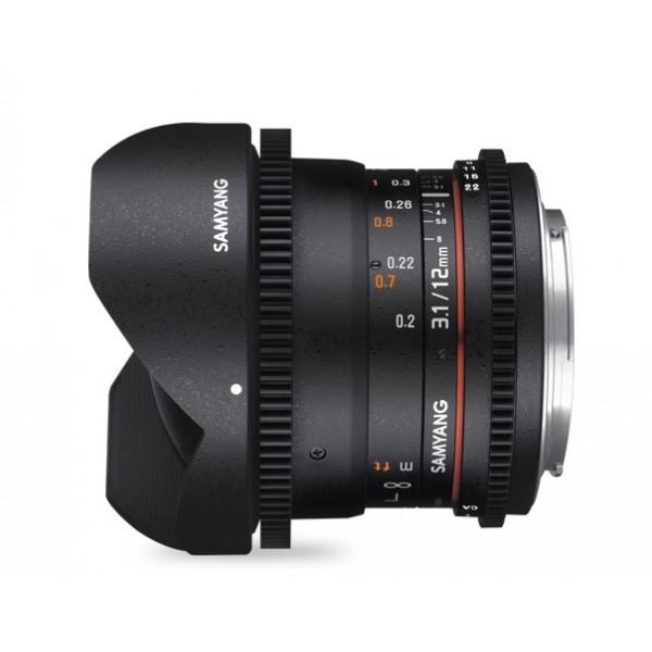 Samyang 12mm T3.1 Fisheye VDSLR Sony E (Garantía España) Ref: SAM12T31SONYE