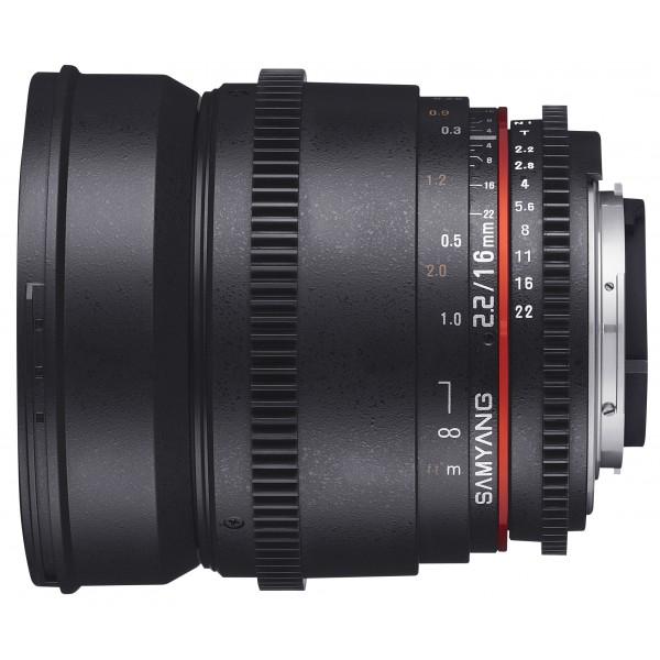Samyang 16mm T2.2 VDSLR II Sony E (Garantía España) Ref: SAM16T22SONYEII