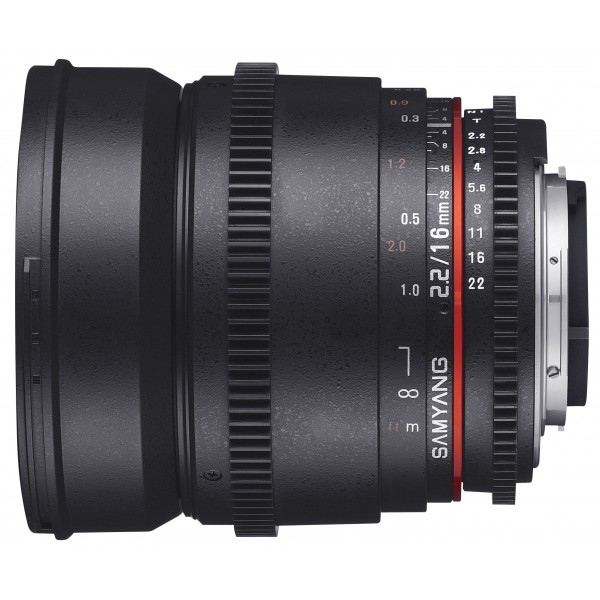 Samyang 16mm T2.2 VDSLR II Canon (Garantía Españ...