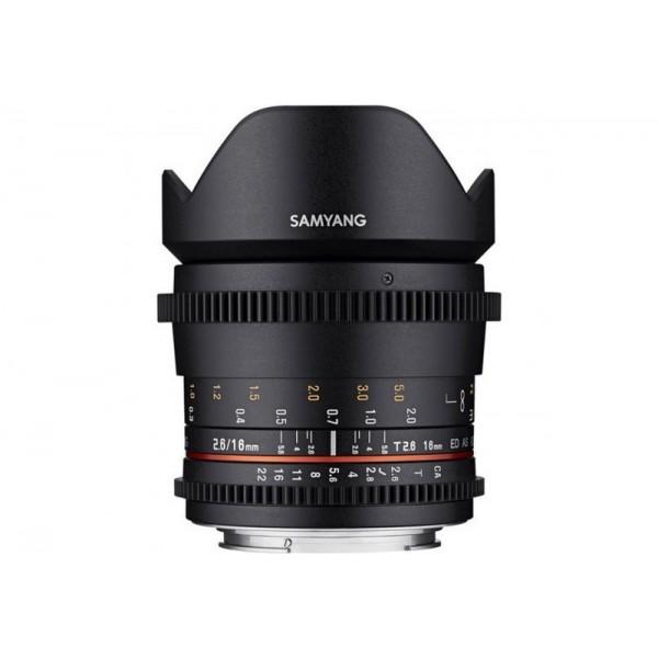Samyang 16mm T2.6 VDLSR Nikon (Garantía España) ...