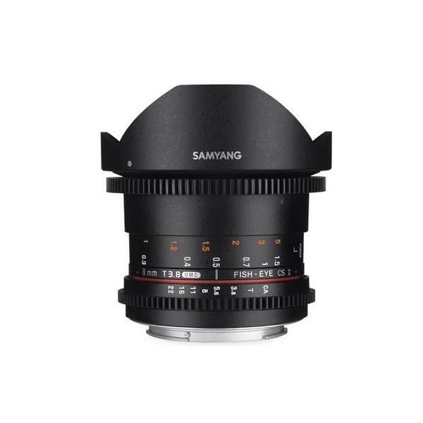 Samyang 8mm T3.8 Fisheye CS II VDSLR II Canon (Gar...
