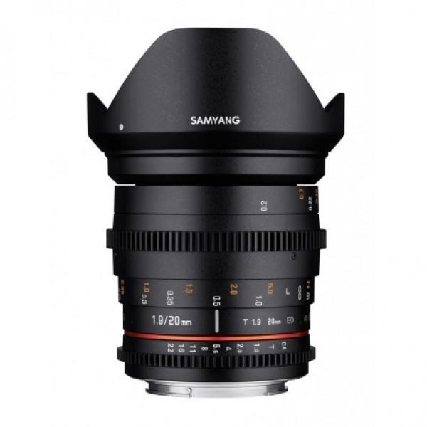 Samyang 20mm T1,9 VDSLR Sony E  Ref: SAM20T19SONYE