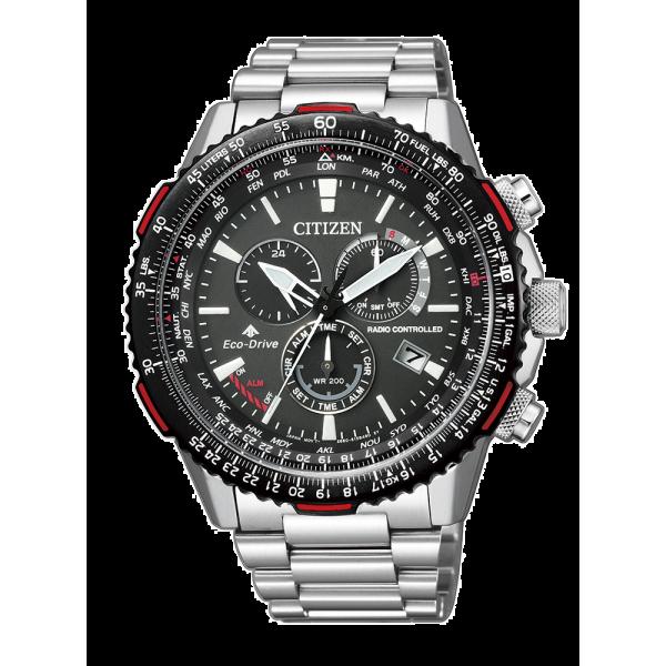 Reloj Citizen Crono Pilot E660 Acero Ref: CB5001-5...