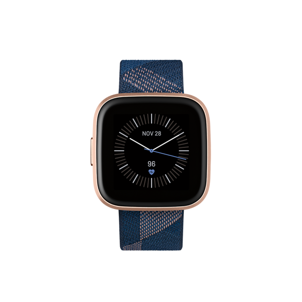 Fitbit Versa 2 Textil Azul marino y Rosa / Alumini...