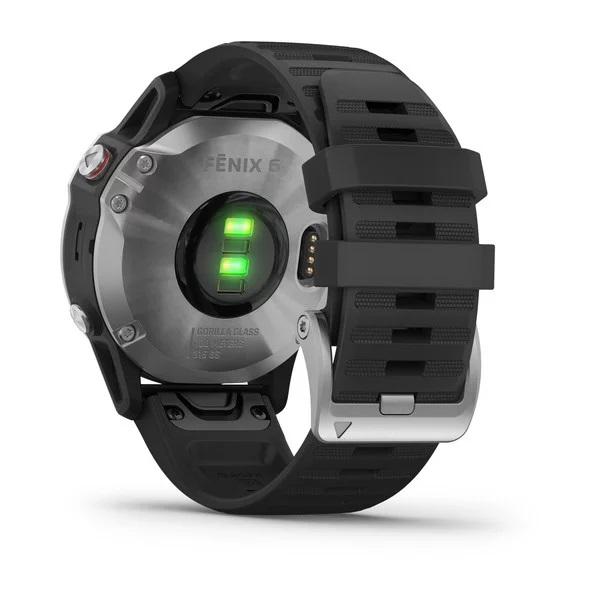 Reloj Garmin fenix 6 plata, negro con correa negra Ref: 010-02158-00 (Garantía Garmin España)