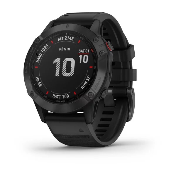 Reloj Garmin fenix 6 ediciones Pro, negro con corr...