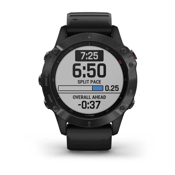 Reloj Garmin fenix 6 ediciones Pro, negro con correa negra Ref: 010-02158-02 (Garantía Garmin España)