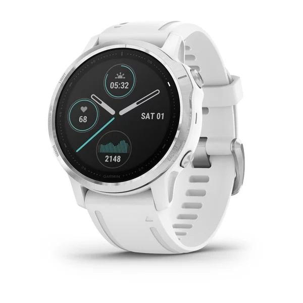 Reloj Garmin fenix 6S plata, blanco con correa bla...