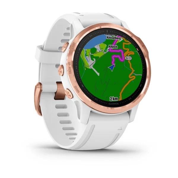 Reloj Garmin fenix 6S ediciones Pro Rose Gold, blanco con correa blanca Ref: 010-02159-11 (Garantía Garmin España)