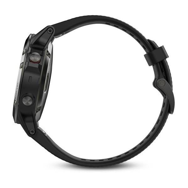 Reloj Garmin Fenix 5 Gris con correa negra y cristal de Zaphiro Ref: 010-01688-11 (Garantía Garmin España)