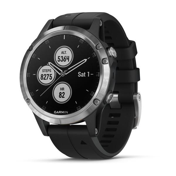 Reloj Garmin fēnix 5 Plus Plata con banda negra R...