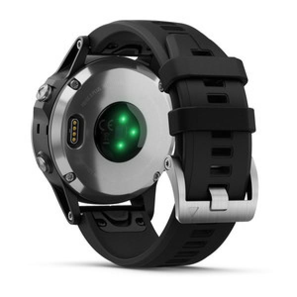 Reloj Garmin fēnix 5 Plus Plata con banda negra Ref: 010-01988-11