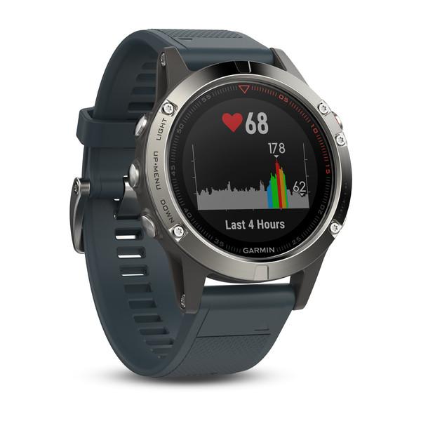 Reloj Garmin Fenix 5 Plata con correa gris granito...