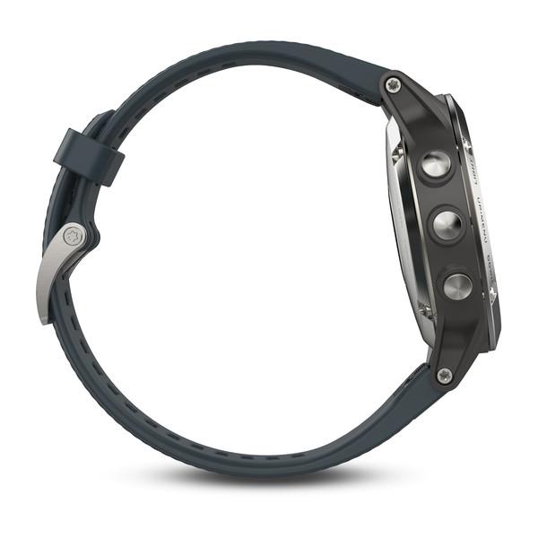Reloj Garmin Fenix 5 Plata con correa gris granito Ref: 010-01688-01 (Garantía Garmin España)