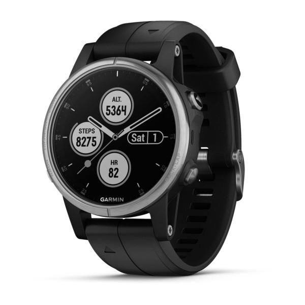 Reloj Garmin fēnix 5S Plus Plata con correa negra...