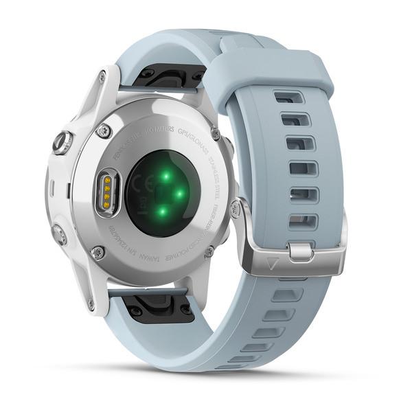 Reloj Garmin fēnix 5S Plus Blanco con banda de Seafoam Ref: 010-01987-23