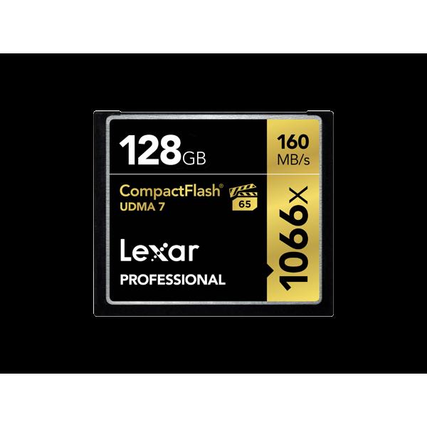 Tarjeta Lexar Professional 1066x CompactFlash de 128GB