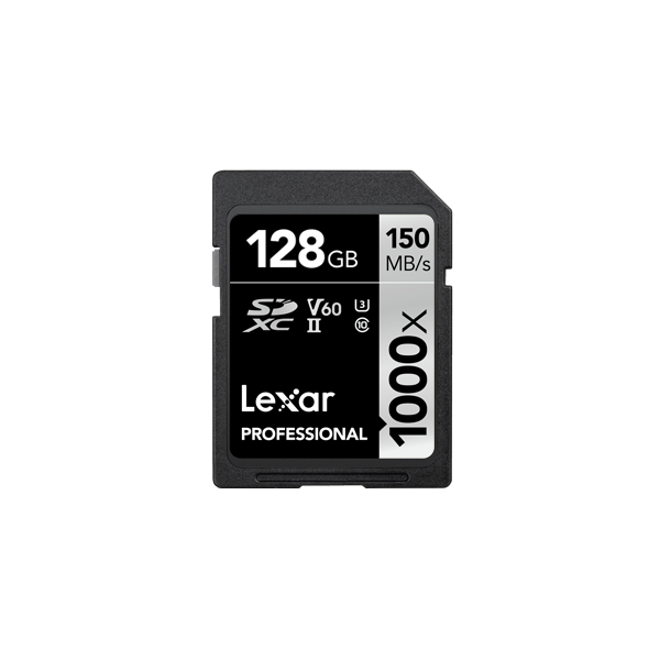 Tarjeta Lexar Professional 1000x SDHC ™ / SDXC ™ UHS-II de 128GB