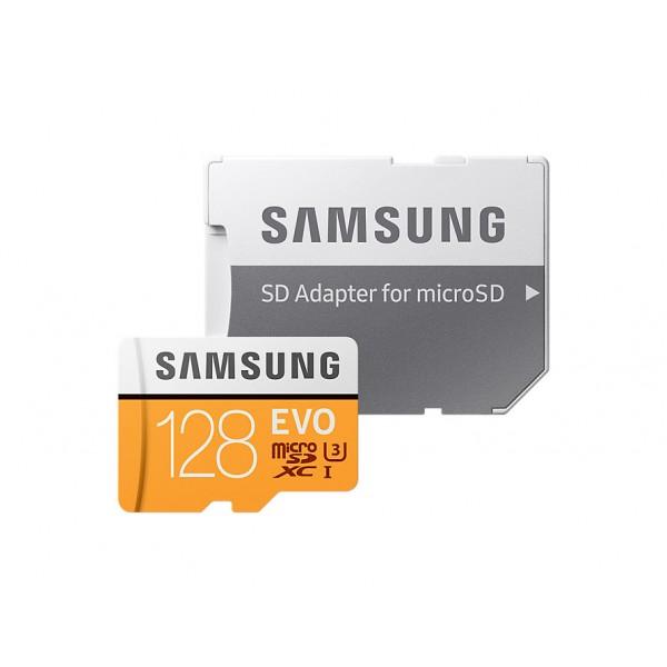Tarjeta Samsung EVO (adaptador SD) 128GB 100MB/s Ref: MB-MP128GA / UE